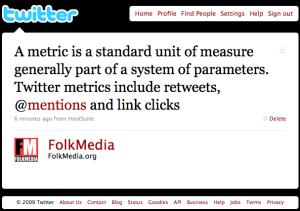 Metric definition